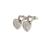 Sterling Silver Looped Heart Earrings