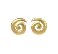 Sterling Silver and Gold Vermeil Spiral Stud Earrings