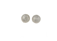Sterling Silver Satin Brushed Dome Stud Earrings