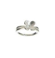 Sterling Silver Brushed Four Petals Ring