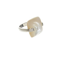 Sterling Silver and Mother of Pearl Lozenge Ring