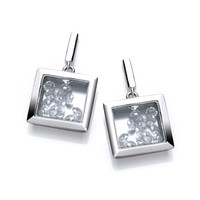 Celestial Square Earrings