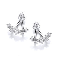 CZ Galaxy Jacket Earrings