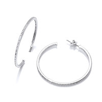 Large Cubic Zirconia Hoop Earrings