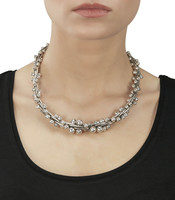 Heavy Graduated Silver Peppercorn Necklace