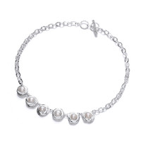 Silver and Nested Pearl Necklace