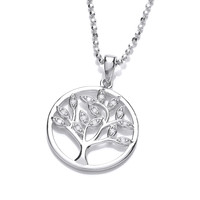 Cubic Zirconia Tree of Life Design Pendant