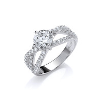 CZ Twist Solitaire Ring