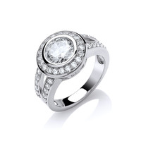 Bold Cubic Zirconia Solitaire Ring