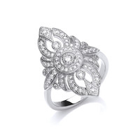 Ornate Cubic Zirconia Wedding Ring