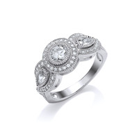 Victorian Style Triple CZ Ring