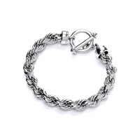 Classic Sterling Silver Rope Bracelet