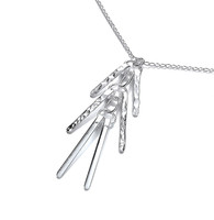 Delicate Silver Bars Necklace