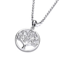 Cubic Zirconia Tree of Life Pendant