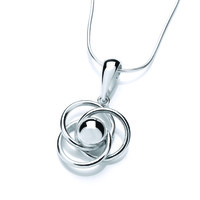 Silver Ball and Loops Pendant