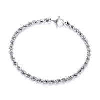 Sterling Silver Classic Rope Necklace