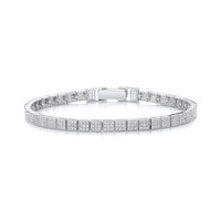 Sterling Silver and CZ Fine Tennis Bracelet