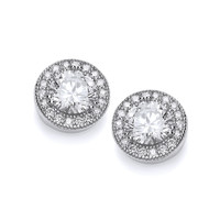 Cubic Zirconia Roundabout Earrings