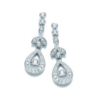 Cubic Zirconia Victorian Drop Earrings
