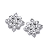 Cubic Zirconia Bright Star Earrings