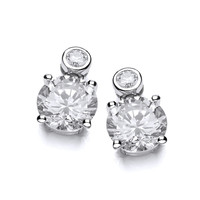 Cubic Zirconia Million Dollar Earrings