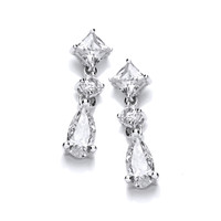 Cubic Zirconia Victorian Glamour Earrings