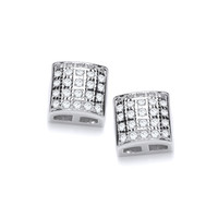 Cute Cubic Zirconia Mini Square Earrings
