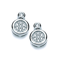 Double Round Cubic Zirconia Earrings