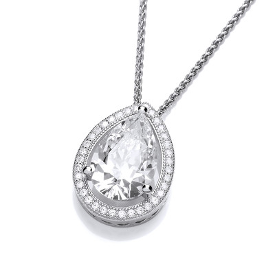 Cubic Zirconia Crown Jewels Pendant