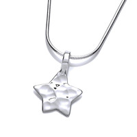 Hammered Silver Star Pendant