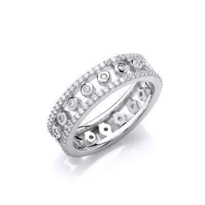Cubic Zirconia Ring of Solitaires