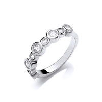 Cubic Zirconia Solitaire Mix Ring