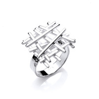 Silver Crossgate Ring