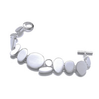 Silver Stepping Stones Bracelet
