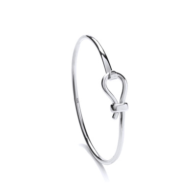 Sterling Silver Latch Bangle