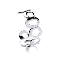 Round in Circles Silver Bangle