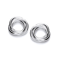 Silver Wreath Stud Earrings