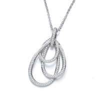 All the Loops Silver and CZ Pendant