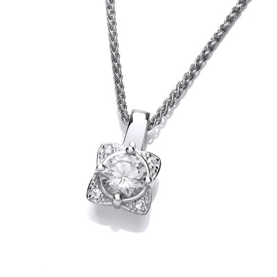Silver and CZ Sunshine Pendant
