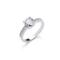 All Sparkle Solitaire Ring