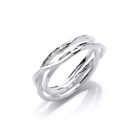 Fine Strands Silver Ring