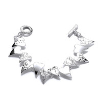 'Don't Break my Heart' Silver Bracelet