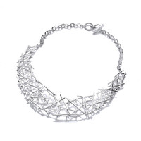 Silver Crossgate Necklace