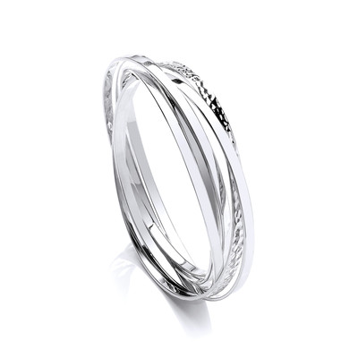 Sterling Silver Russian Bangle