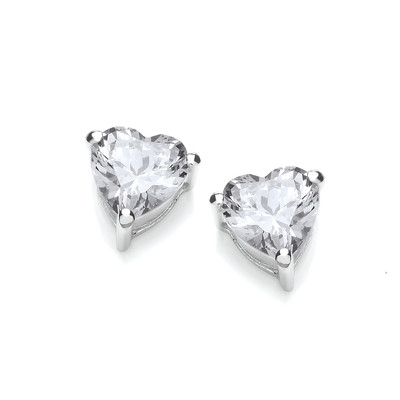 Crystal Clear Heart Earrings