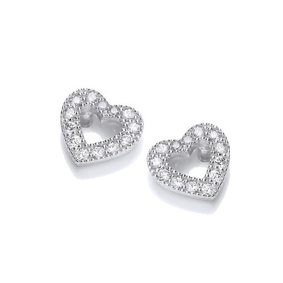 Diddy Cubic Zirconia Heart Earrings