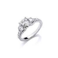 Sparkling Solitaire Ring
