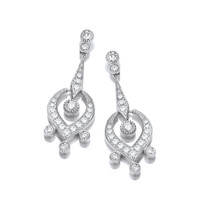 Silver and CZ Georgian Earrings