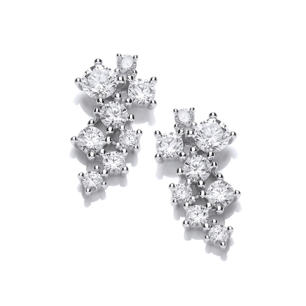 Silver & Cubic Zirconia Constellation Earrings