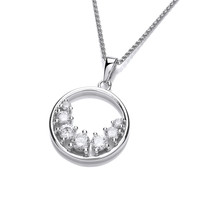 Silver and CZ Ring of Light Pendant